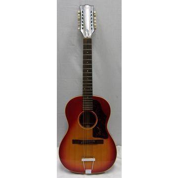 Vintage 1966 1966 Gibson B-12 25 Sunburst 12 String Acoustic Guitar Cherry Sunburst