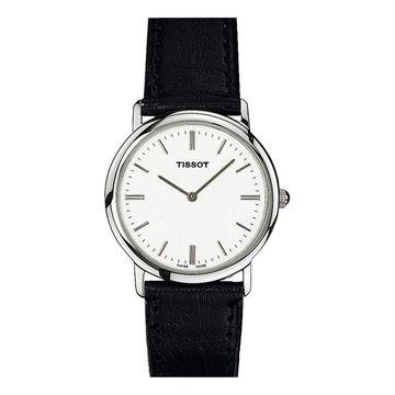 Tissot Women's 'T-Classic' Black Leather Watch