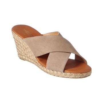 Andre Assous Amber Suede Wedge Sandal