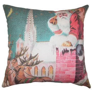 Nicholas Holiday Floor Pillow Multi