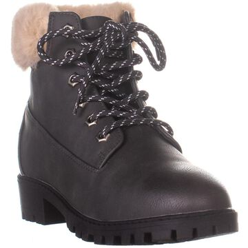 Madden Girl Womens Frannkie Faux Fur Closed Toe Ankle Cold