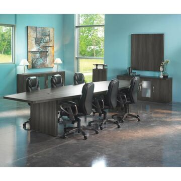 Mayline Aberdeen Series Wood Laminate 12-foot Boat-surface Conference Table (Grey)