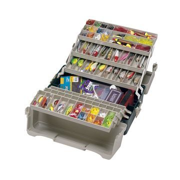 Plano 9606-02 Plano 6 Tray Tackle Box 76 Comp Green/BGE 9606-02