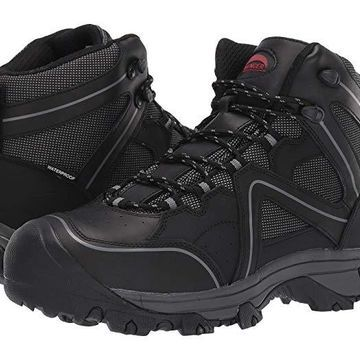 Avenger A7712 Steel Safety Toe (Black) Men's Shoes