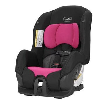 Evenflo Tribute LX Harness Convertible Car Seat, Solid Print Black