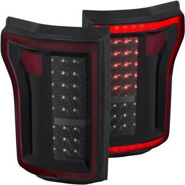 Anzo 311261 Tail Lights LED Black Set of 2 for 2015-2016 Ford F-150