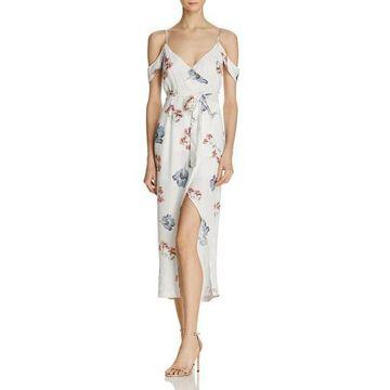 Bardot Womens Special Occasion Surplice Wrap Dress