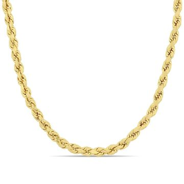 Miadora 10k Yellow Gold 18 Inch Rope Chain Necklace