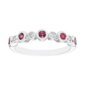 Boston Bay Diamonds Sterling Silver Gemstone & Diamond Accent Ring, Women's, Size: 7, Pink