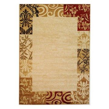 Well Woven Dulcet Damask Transitional Area Rug, Ivory