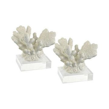 Great Reef Branch Coral White Seven-Inch Decorative Accessory, Set of Two