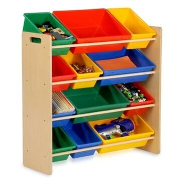 Honey Can Do Kids Toy Room Organizer with Totes, 12 Bins