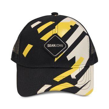 Men's Geo Gloss Patch Merrow Edge Mountain Trucker Hat, Created for Macy's