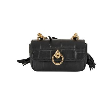 Pinko Tiny Lovelink Croco Shoulder Bag