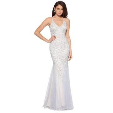Xscape Embellished Mermaid-Hem Gown