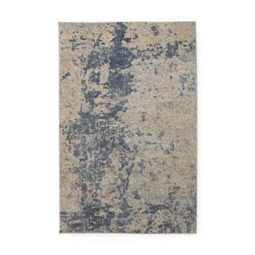 Alexander Home Modern & Contemporary Marble Abstract Area Rug (Beige/Blue 9'6