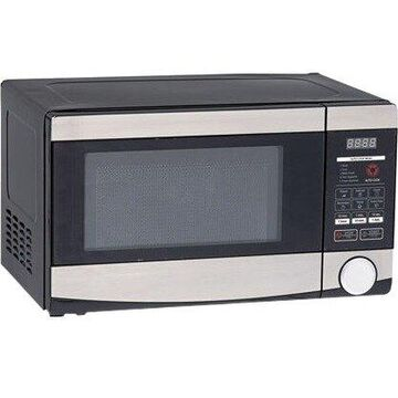 Avanti MO7212SST Microwave Oven - Single - 0.70 ft Main Oven - 10 Power Levels - 700 W Microwave Power - 1100 W15 A Fuse - Countertop - Stainless Steel, Black