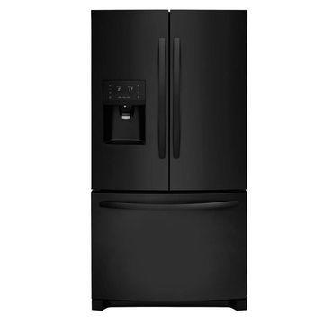 Frigidaire 26.8-cu ft 3-Door Standard-Depth French Door Refrigerator with Ice Maker (Fingerprint-Resistant Black) ENERGY STAR