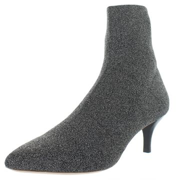 Loeffler Randall Womens Kassidy Sock Boot Knit Metallic