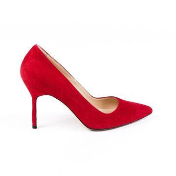 Manolo Blahnik Red Suede Heels