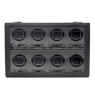 WOLF Viceroy Black Faux Leather 8-piece Watch Winder