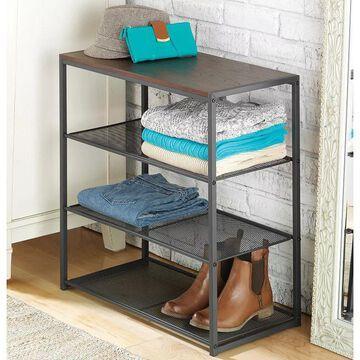 Whitmor Mesh Shelf Table Organizer, Grey