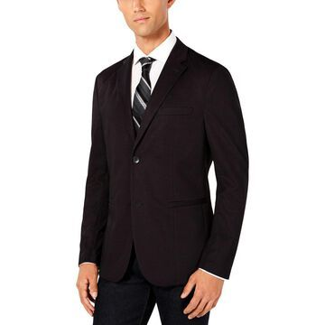 Ryan Seacrest Distinction Mens Knit Plaid Sportcoat