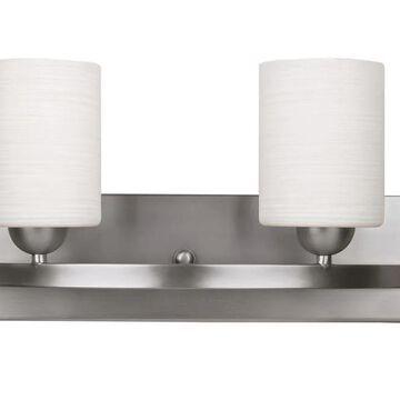Canarm Hampton 2-Light Nickel Modern/Contemporary Vanity Light | IVL370A02BPT