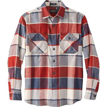 Pendleton Men's Burnside Flannel Shirt - Medium - Red/Navy Block Plaid