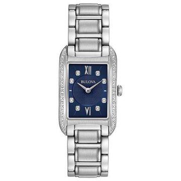 Bulova 96R211 Womens Diamond Blue Quartz Watch
