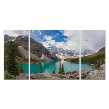 Wexford Home 'Banff Valley of the Ten Peaks' 3-piece Wall Art