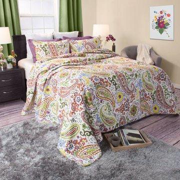 Somerset Home 3pc Trista 100% Cotton Quilt Set