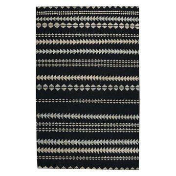 Capel - Viking Stripe 1715 - 3ft 6in x 5ft 6in Black