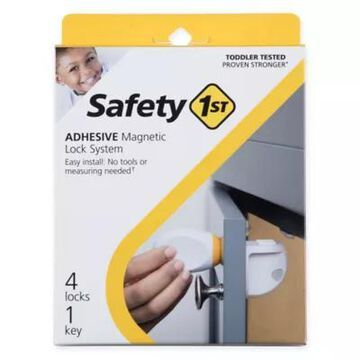 Safety 1st 4-Pack Adhesive Magnetic Locks with Key