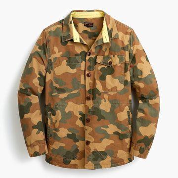 Barbour& camo shirt jacket