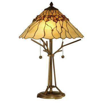 Dale Tiffany Branch Base 2-Light Table Lamp