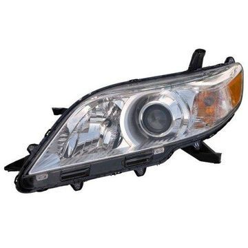 Headlight Depo - 11-17 Toyota Sienna Headlamp Assembly LEFT HAND / DRIVER SIDE Halogen Type (Exclude SE-Model) NSF Certified