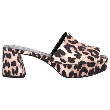 Ganni Brown Cloth Sandals