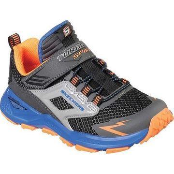 Skechers Boys' Turbo Spike Sneaker Black/Blue/Orange