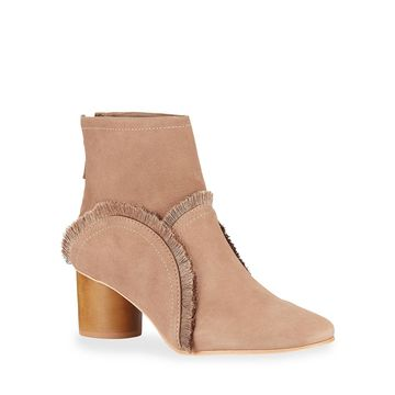 Ingrid Suede Fringe Ankle Booties