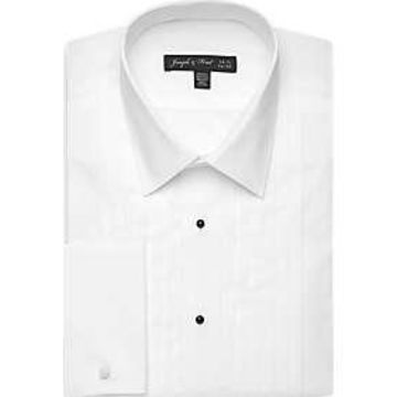 Joseph & Feiss White Tuxedo Classic Fit Shirt