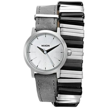 Nixon Women's 'Kenzi' Wraparound Grey Leather Watch