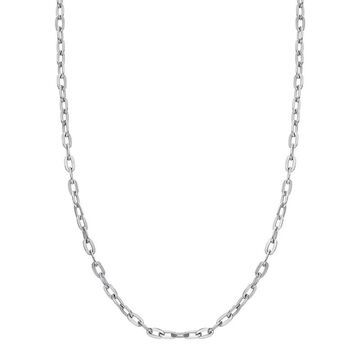"""Men's LYNX Stainless Steel Chain Necklace, Size: 20"""", White"""