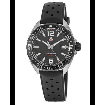 Tag Heuer Formula 1 Quartz Black Dial Black Rubber Strap Men's Watch WAZ1110.FT8023 WAZ1110.FT8023