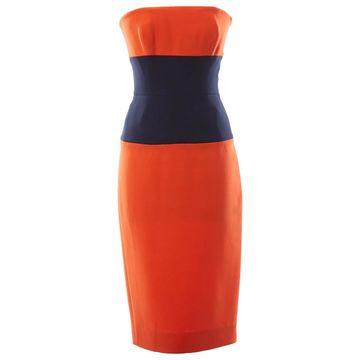 Victoria Beckham Orange Polyester Dresses