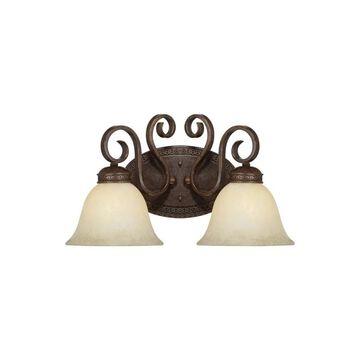 Millennium Lighting 7282 Alma 2 Light Bathroom Vanity Light Bronze / Gold Indoor Lighting Bathroom Fixtures Vanity Light