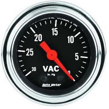 AutoMeter 2484 Traditional Chrome Mechanical Vacuum Gauge