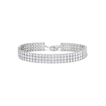 Kenneth Jay Lane - Rhodium-plated Cubic Zirconia Anklet - Silver