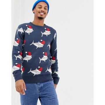 Another Influence Holidays Shark Sweater