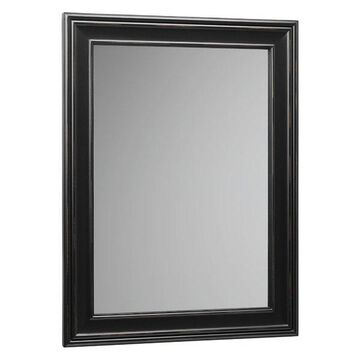 Ronbow 24 Traditional Solid Wood Framed Rectangular Bathroom Mirror, 606124-B01